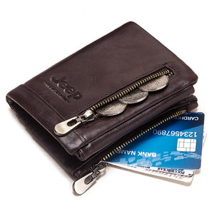 Jeep Kavi`s Bonwe Rift Retro Leather Wallet