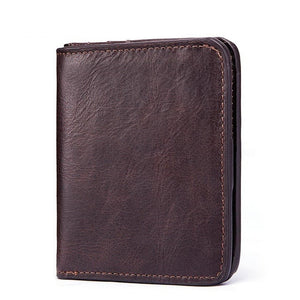 Kavi`s Eufrasio Small Card Holder Genuine Leather Wallet