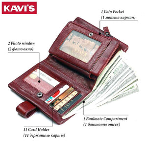 Kavi`s Genuine Leather Women Wallet
