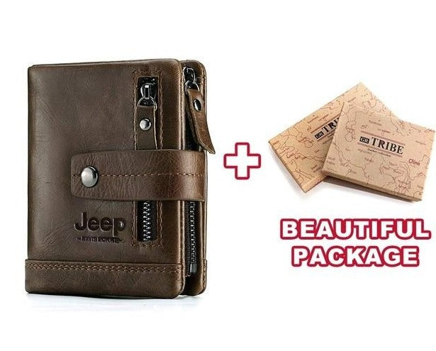 Jeep 100% Leather Custom Engraved Men's/Women`s Wallet