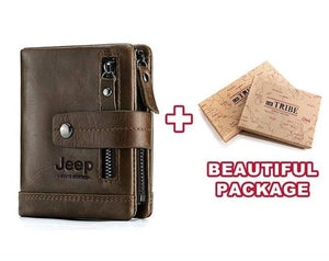Open image in slideshow, Jeep 100% Genuine Custom Engraved Men's/Women`s Leather Wallet