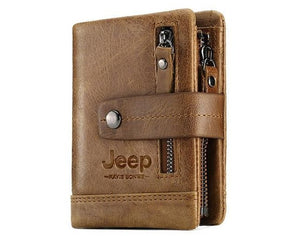 Jeep 100% Genuine Custom Engraved Men's/Women`s Leather Wallet
