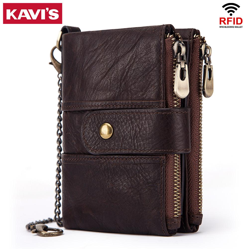Kavis 100% Genuine Leather Rfid Wallet