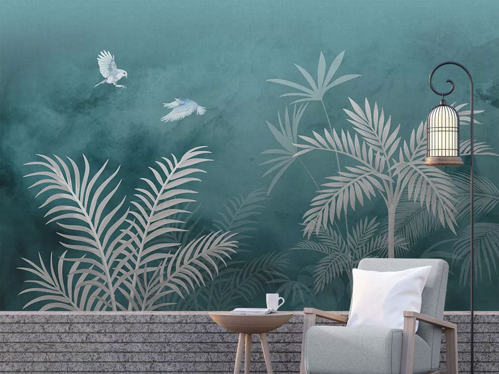 Custom Floral Plant Wall Mural Wallpaper