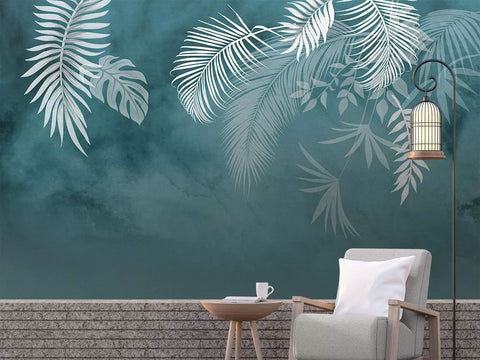 Custom Wall Murals Wallpaper Banana Leaves Design