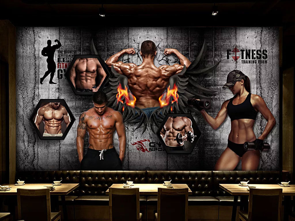 Custom Your Own Wallpaper Murals For Fittness Business