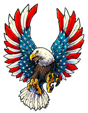 Nostalgia Decals - american eagle vinyl decal, eagle sticker for car window, USA patriotic vinyl decals