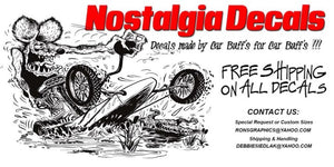 Nostalgia Decals - decals made by car buffs for car buffs! Free shipping on all decals, contact us for custom sizes