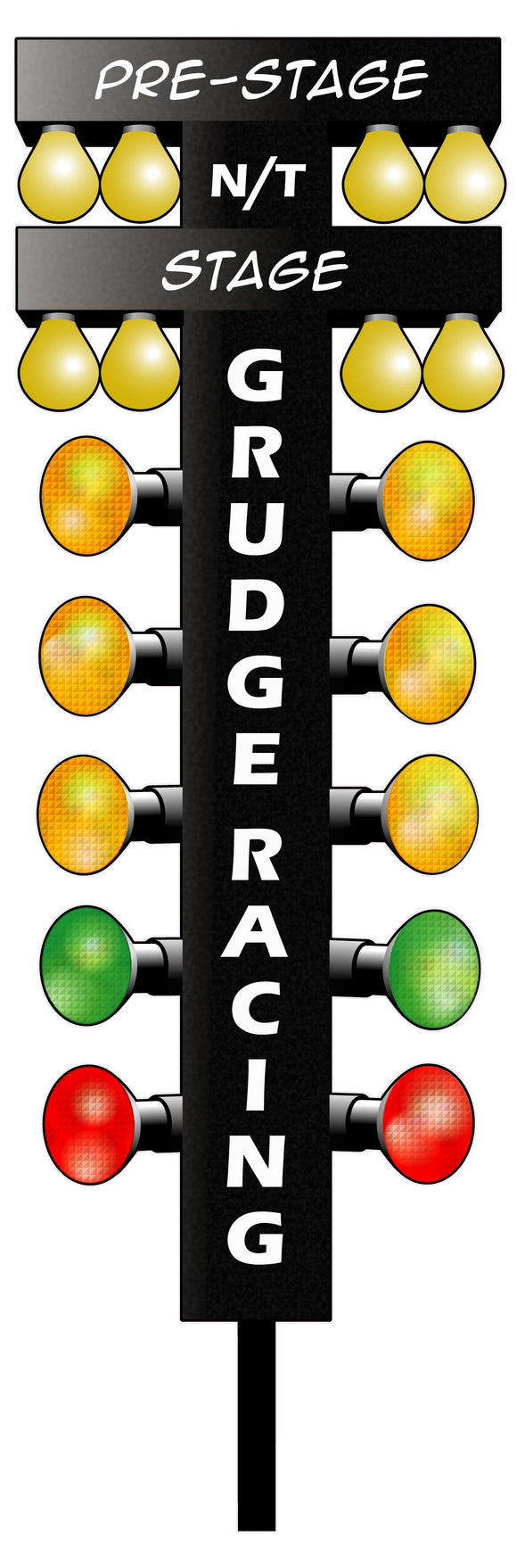 Grudge Racing Drag Tree Decal