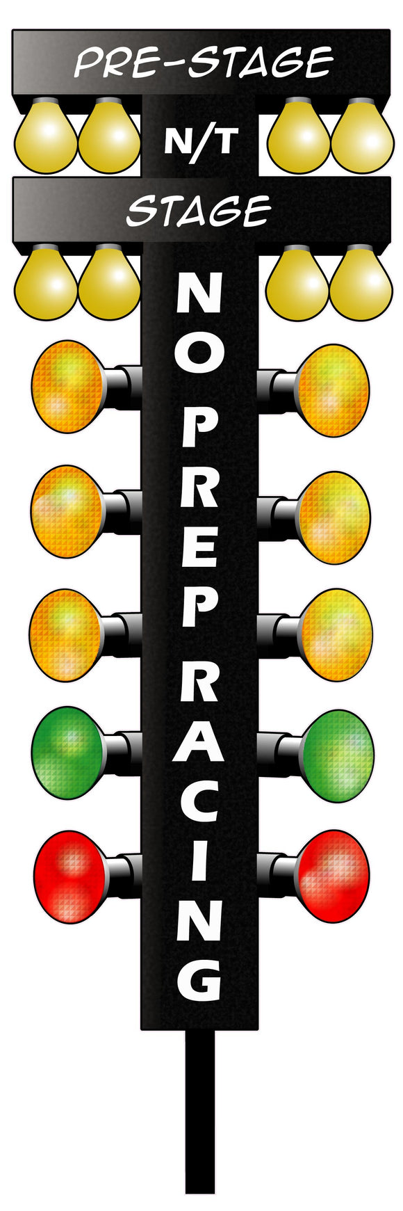 NO Prep Racing Drag Tree Decal