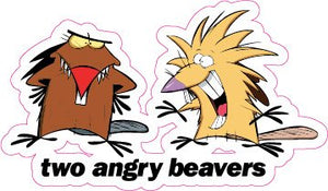 2 Angry Beavers Decal - | Nostalgia Decals Online retro car decals, old school vinyl stickers for cars, racing graphics for cars, car decals for girls