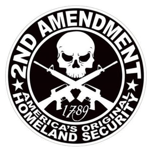 "2nd Amendment Right to Bare Arms Decal- 5"" x 5"" 