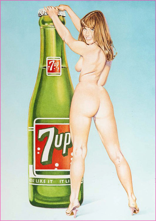 7 UP Pin Up Girl Decal