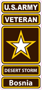 U.S. Army Veteran Desert Storm Bosnia Decal