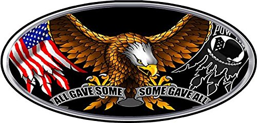 All Gave Some Some Gave All Oval Decal - | Nostalgia Decals Online military window stickers for cars and trucks, army vinyl decals for cars, marine corps vinyl stickers, die cut vinyl navy decals