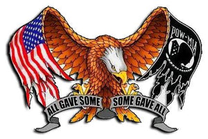 "All Gave Some Some Gave All Decal - 5.5"" x 3.75"" 