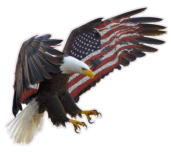 American Eagle American Flag Wall Decor - Wall Decor - 24