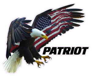 "American Eagle Patriot Decal- 6"" x 5"" 