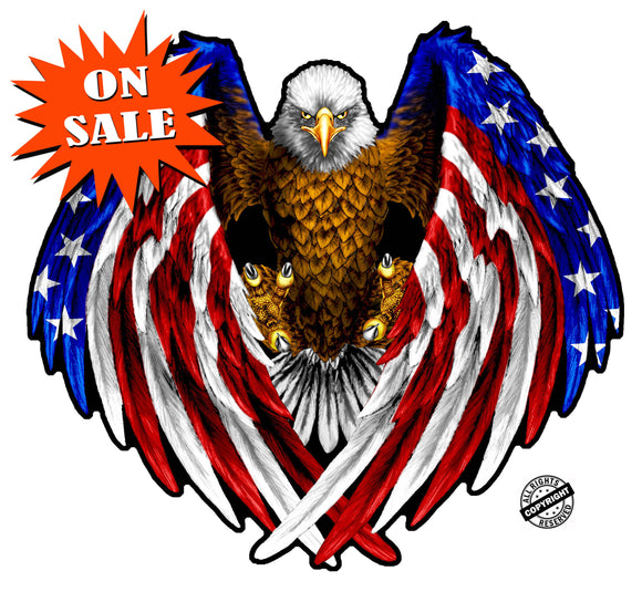 American Eagle Flag Wings Wall Decor - Wall Decor  | Nostalgia Decals Online vinyl sticker wall decor, wall decoration vinyl decals, vinyl holiday wall stickers, vinyl window stickers for the holidays