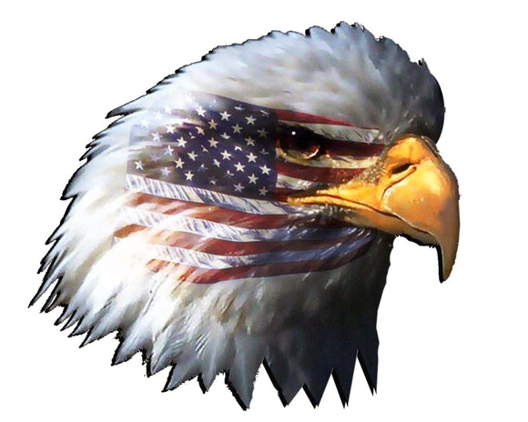 American Flag Eagle Head Decal- 4.5