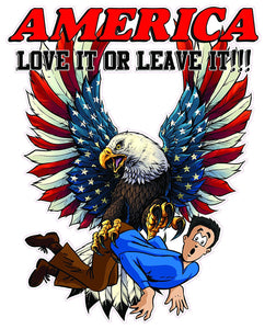 America Love It or Leave It Decal- 24"