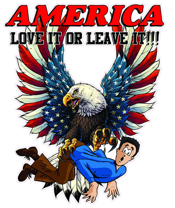 America Love It or Leave It Decal- 24