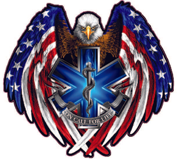 American Flag American Eagle Emt On Call For Life