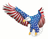 Flying American Flag Eagle Decal