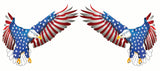 Flying American Flag Eagle Right and Left Decal