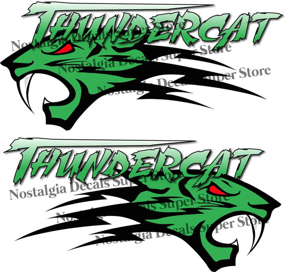 Arctic Cat Thundercat Green Decals Pair - 14