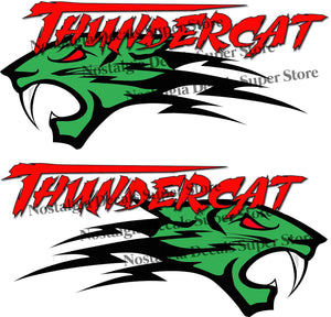 "Arctic Cat Thundercat Red Decals Pair - 14"" x 6"" 