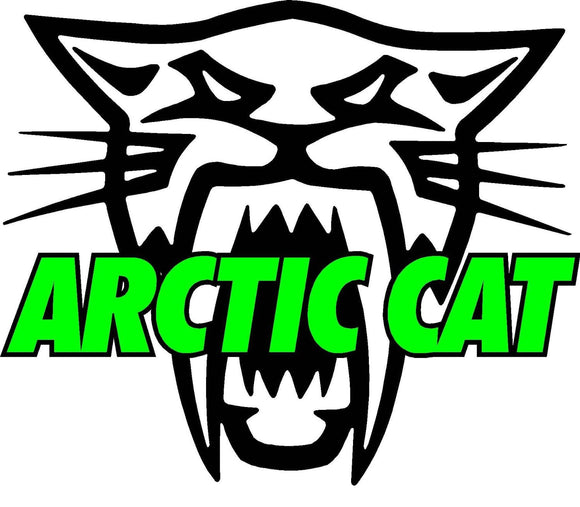 Arctic Cat Version 2 Decal  | Nostalgia Decals Online vinyl graphics for snowmobiles, vinyl snowmobile stickers, die cut vinyl jetski graphics