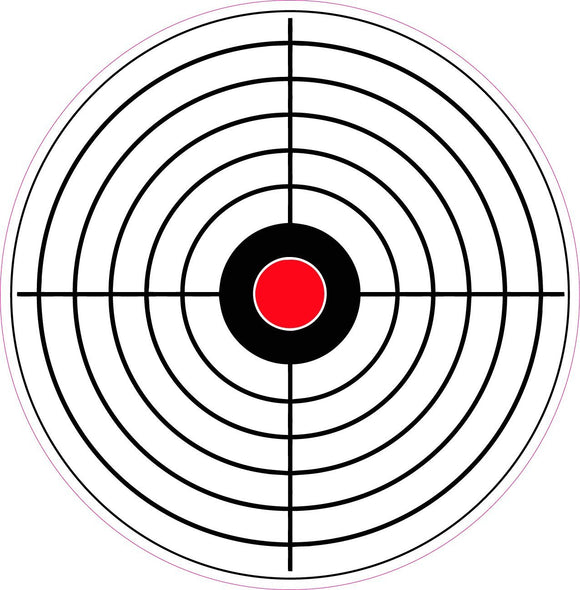 Bulls Eye Target Practice Decal - | Nostalgia Decals Online retro car decals, old school vinyl stickers for cars, racing graphics for cars, car decals for girls
