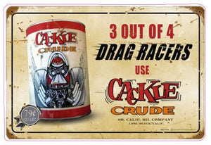 Cackle Racing Oil Decal - | Nostalgia Decals Online retro car decals, old school vinyl stickers for cars, racing graphics for cars, car decals for girls