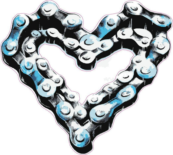 Chain Heart Decal - | Nostalgia Decals Online retro car decals, old school vinyl stickers for cars, racing graphics for cars, car decals for girls
