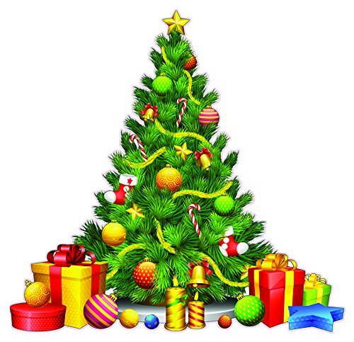 Christmas Tree with Presents Window and Wall Decor Decal - 12