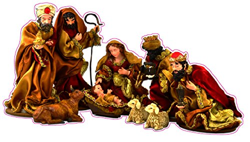 Christmas and Holiday Manger Scene Baby Jesus Window and Wall Decor Decal - 12