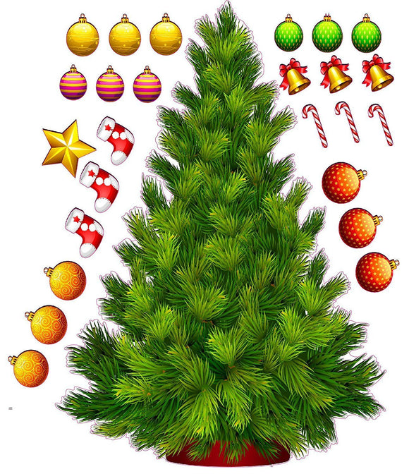 Build a Christmas Tree Wall Decor Decal - 24