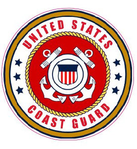 Coast Guard Decal - | Nostalgia Decals Online military window stickers for cars and trucks, army vinyl decals for cars, marine corps vinyl stickers, die cut vinyl navy decals