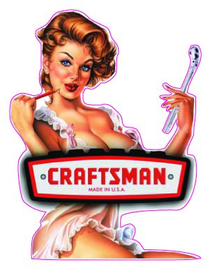 CRAFTSMAN TOOLS Pin Up Girl Magnet Decal - | Nostalgia Decals Online pinup girl decals, vinyl pin up girl stickers, pin up girl graphics for cars