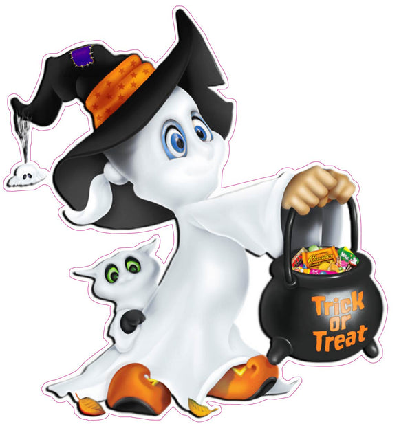 Cute Halloween Ghost Wall Decor Decal - 12