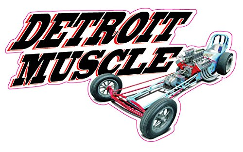 Detroit Muscle Decal - | Nostalgia Decals Online retro car decals, old school vinyl stickers for cars, racing graphics for cars, car decals for girls