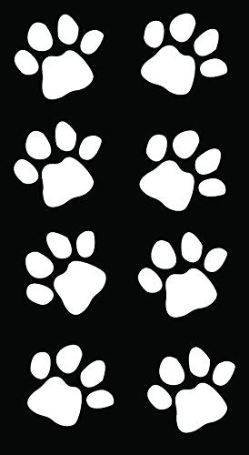 Dog Paws White Print Decals - | Nostalgia Decals Online retro car decals, old school vinyl stickers for cars, racing graphics for cars, car decals for girls