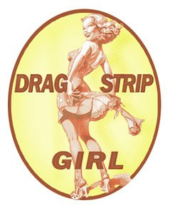 Drag Strip Girl Decal - | Nostalgia Decals Online retro car decals, old school vinyl stickers for cars, racing graphics for cars, car decals for girls