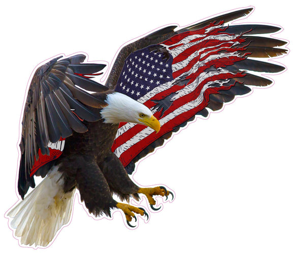 American Eagle American Flag Decal- 48