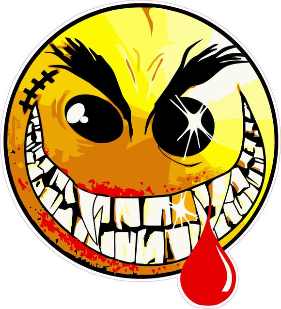 Evil Smiley Face Decal - 5