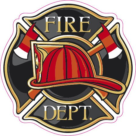 Fire Department Badge Decal - 5