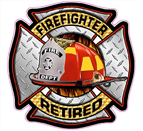 Fire Fighter Retired Decal - | Nostalgia Decals Online retro car decals, old school vinyl stickers for cars, racing graphics for cars, car decals for girls