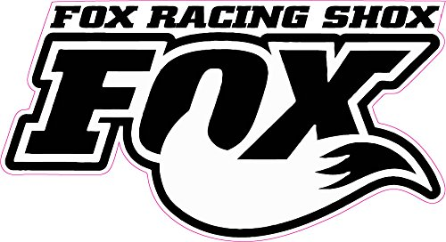 Fox Racing Shox White Tall Decal- | Nostalgia Decals Online window stickers for cars and trucks, die cut vinyl decals, vinyl graphics for car windows, vinyl wall decor stickers