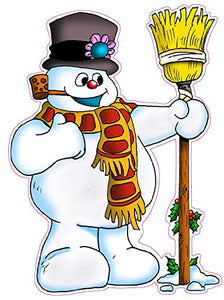"Frosty the Snowman Window and Wall Decor Decal - 12""x9"" 